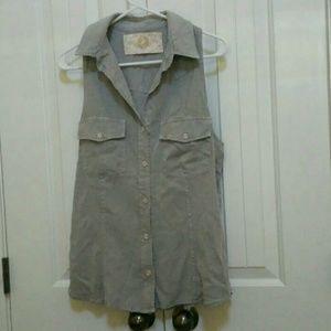 Bella Dahl Button-up Top Size Large